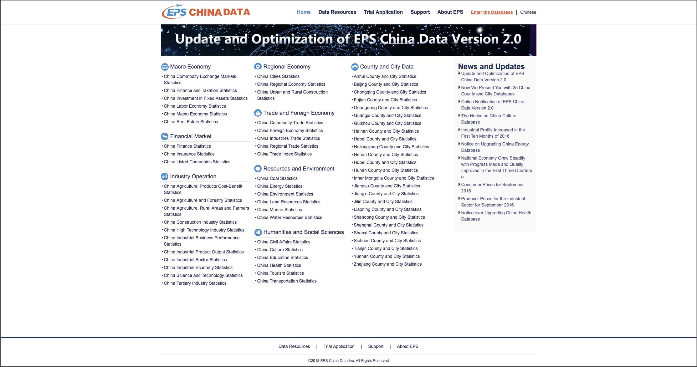 EPS China Data