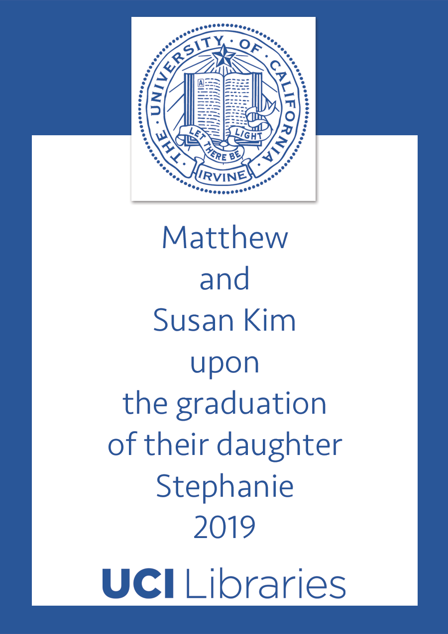 bookplate sample with uci seal